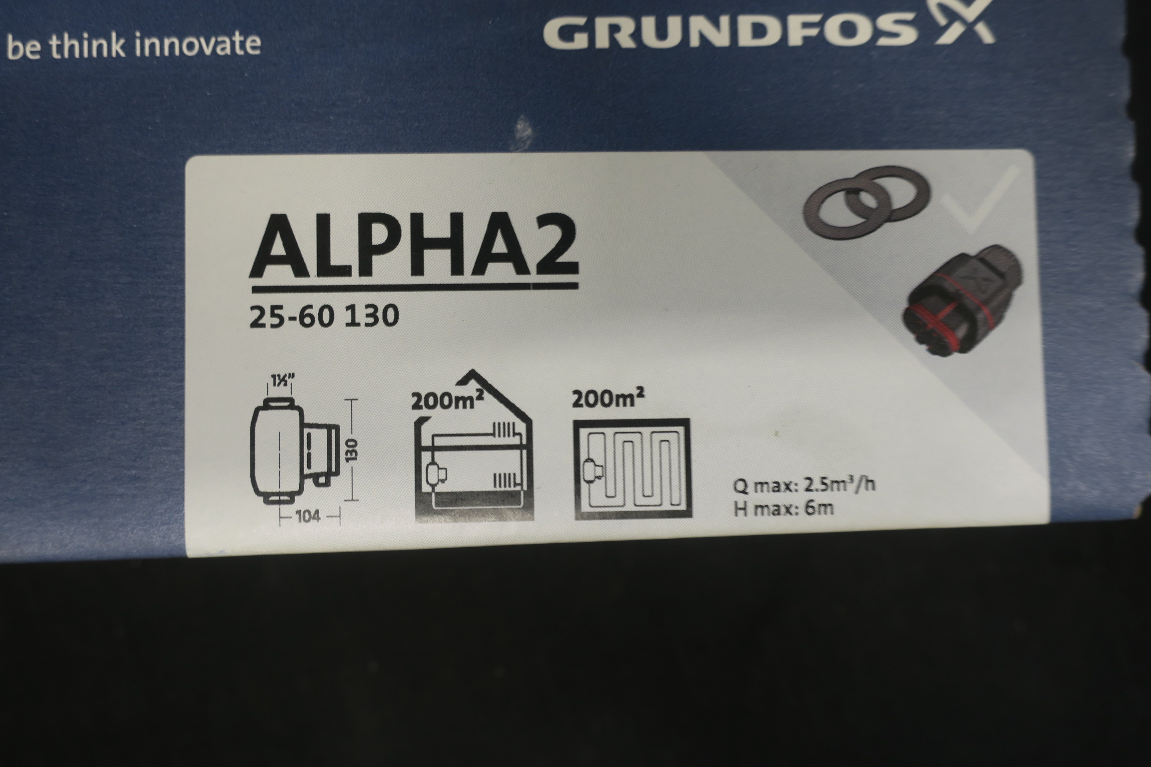 circolatore Grundfos Alpha2/25/ /50/Int.130/attaques 11//2/cod.97993196