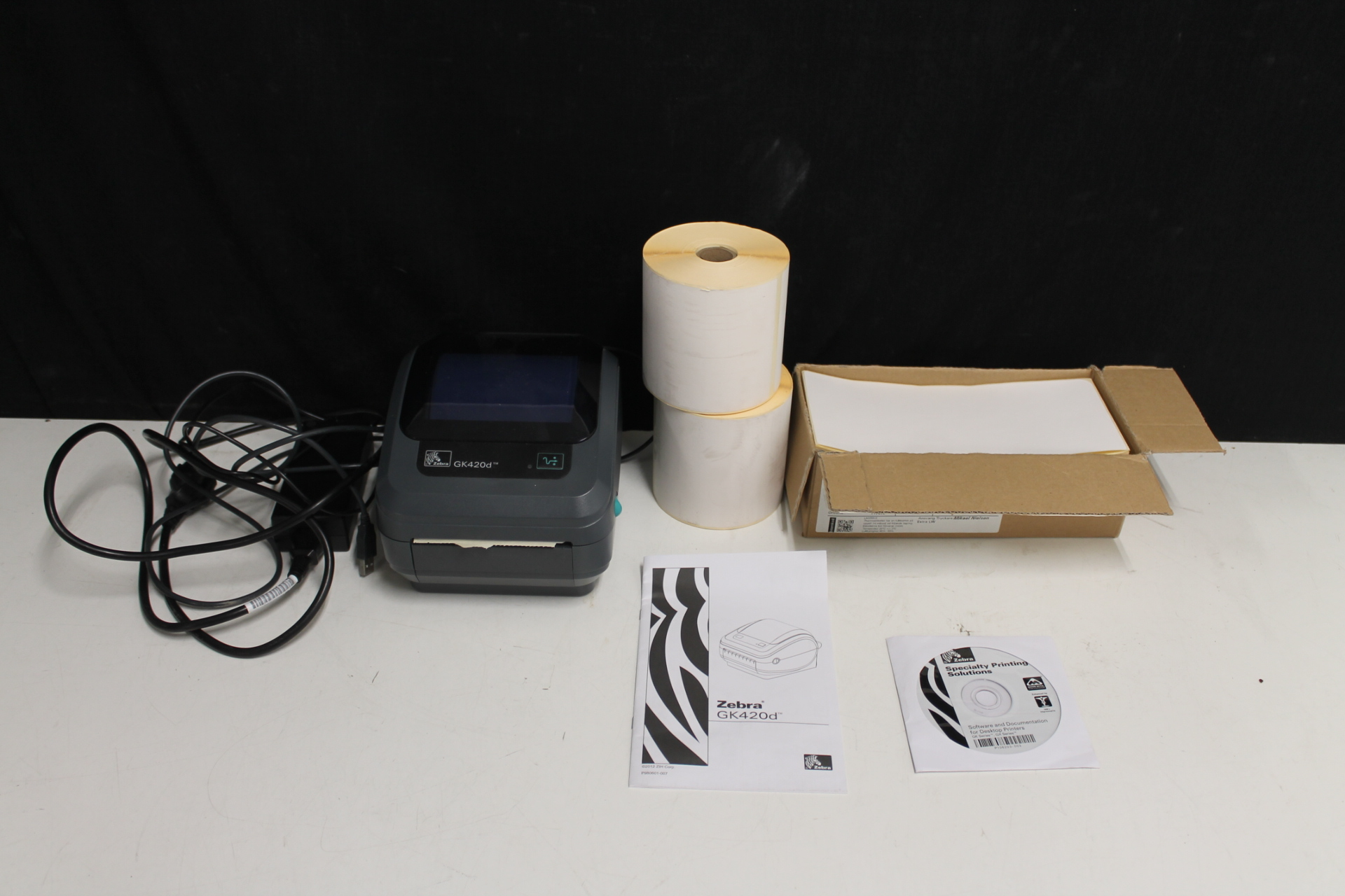 Label printer Zebra GK420d with accessories - PS Auction