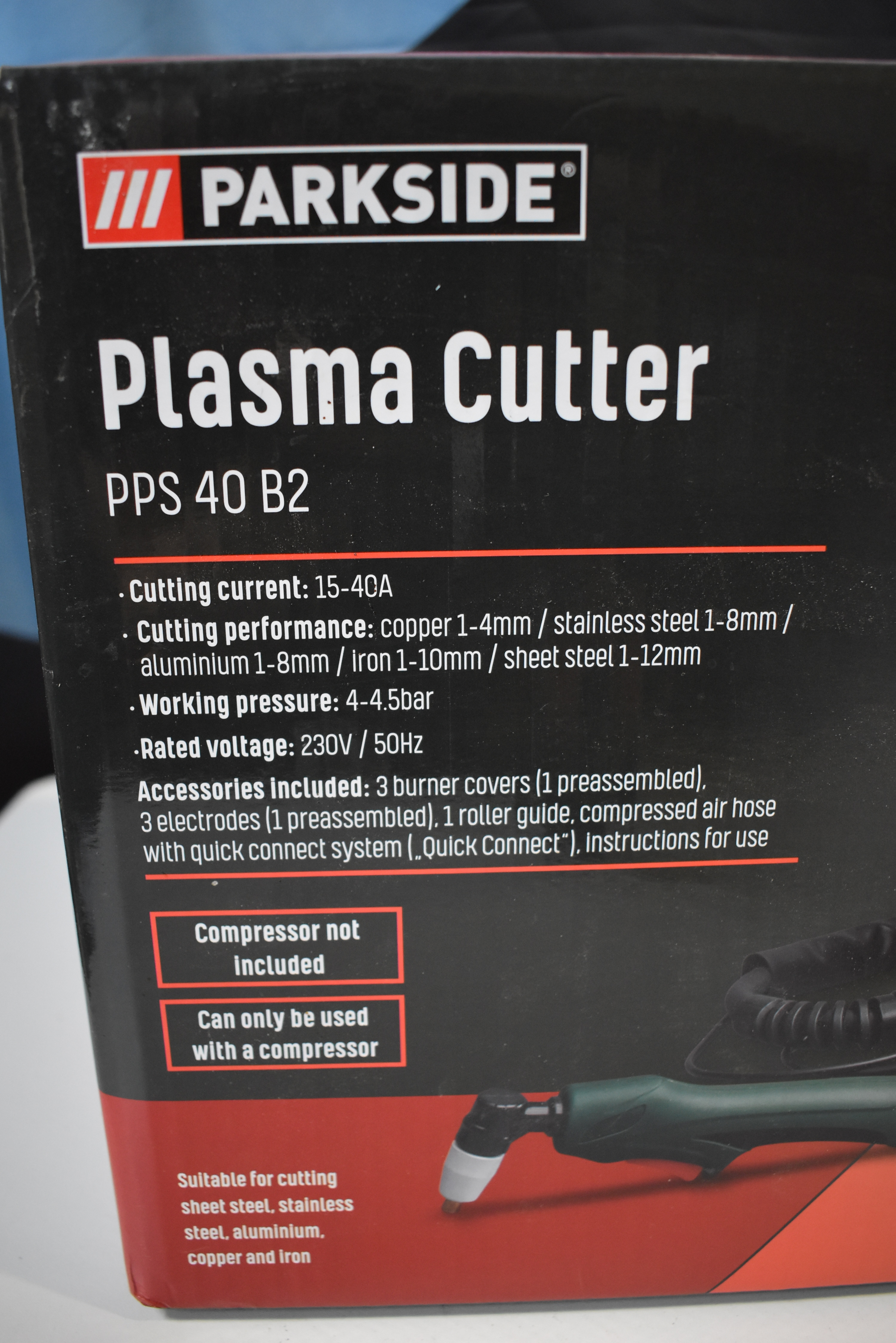 Plasma Cutter From Parkside Pps 40 B2 Ps Auction We Value The Future Largest In Net Auctions