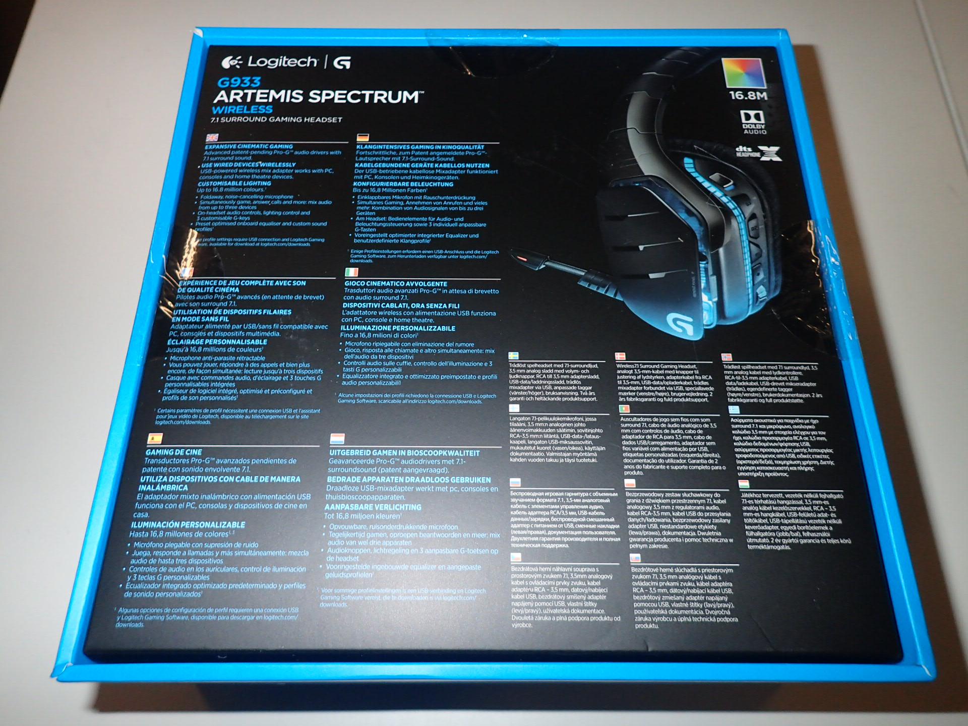New Logitech G933 Artemis Spectrum Gaming Headset - PS Auction