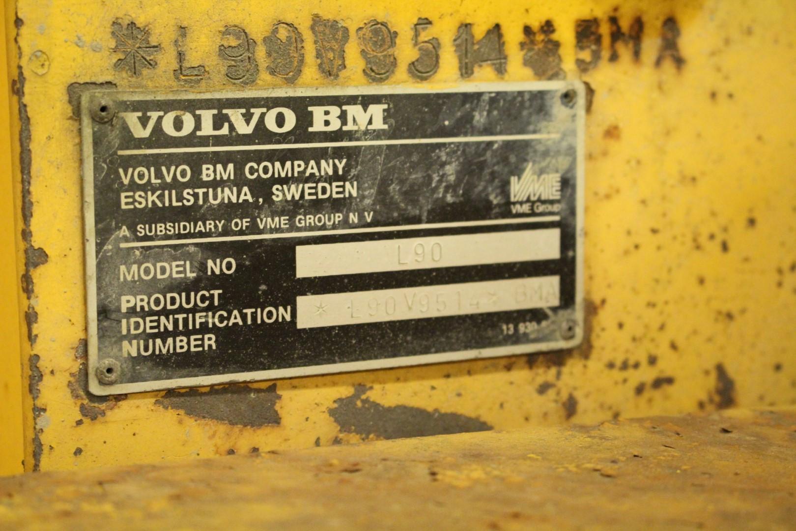 Hjullastare Volvo Bm L90 17253h Ps Auction We Value The