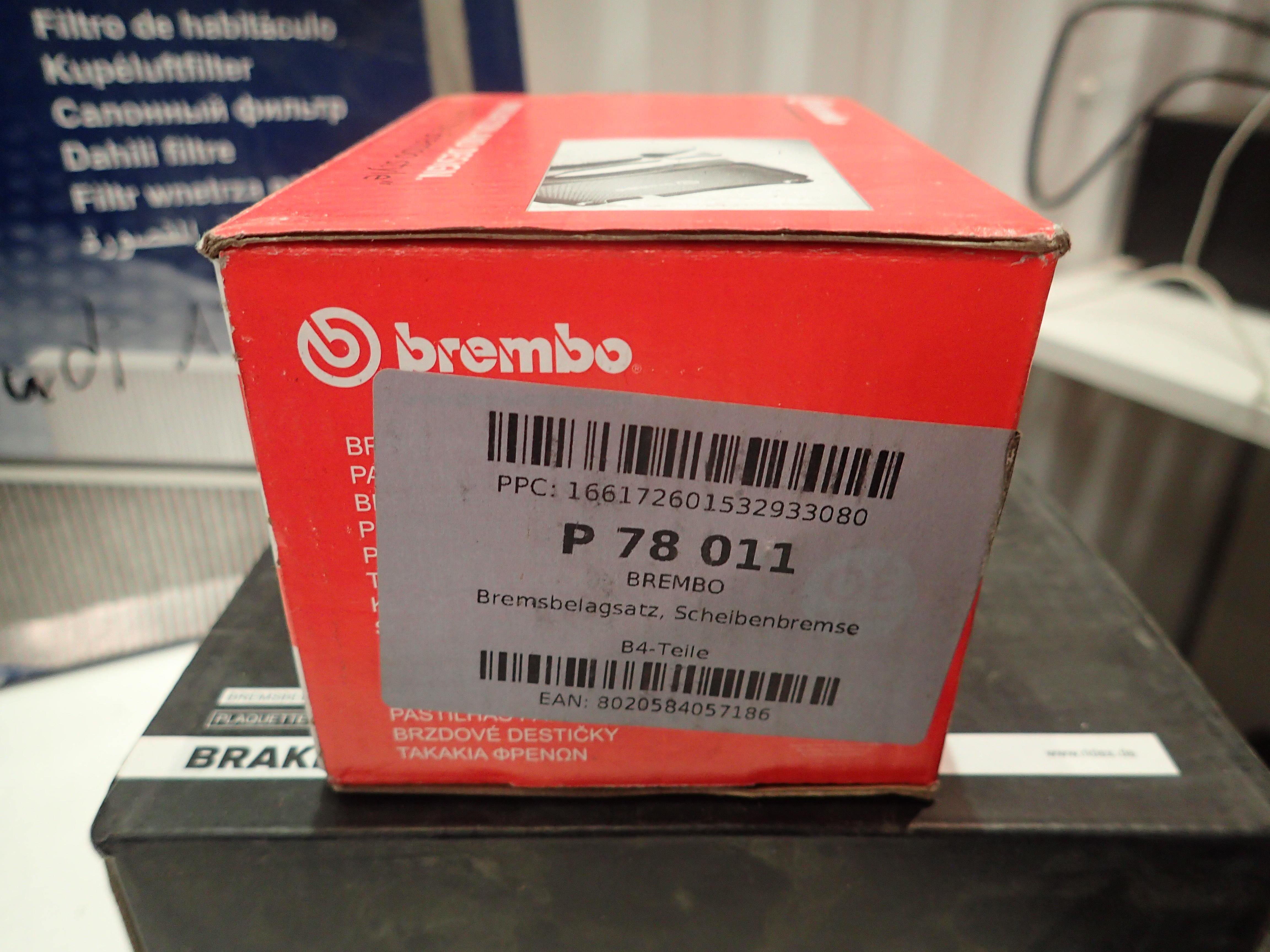 Brembo P 78 014 Bremsbelagsatz Scheibenbremse